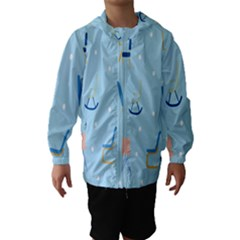 Seat Blue Polka Dot Hooded Wind Breaker (kids)