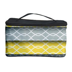 Paper Yellow Grey Digital Cosmetic Storage Case