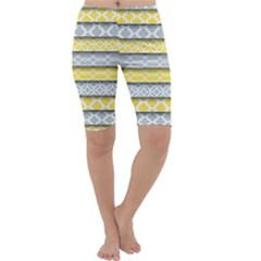 Paper Yellow Grey Digital Cropped Leggings