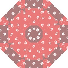 Seed Life Seamless Remix Flower Floral Red White Golf Umbrellas