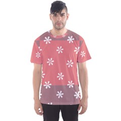 Seed Life Seamless Remix Flower Floral Red White Men s Sport Mesh Tee
