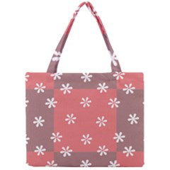 Seed Life Seamless Remix Flower Floral Red White Mini Tote Bag