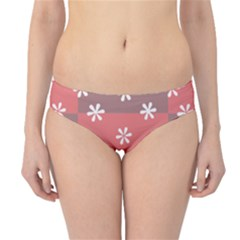 Seed Life Seamless Remix Flower Floral Red White Hipster Bikini Bottoms