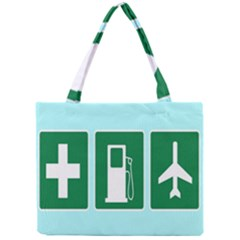Traffic Signs Hospitals, Airplanes, Petrol Stations Mini Tote Bag