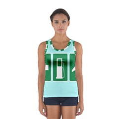 Traffic Signs Hospitals, Airplanes, Petrol Stations Women s Sport Tank Top