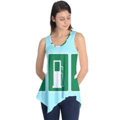 Traffic Signs Hospitals, Airplanes, Petrol Stations Sleeveless Tunic