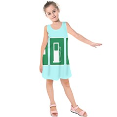 Traffic Signs Hospitals, Airplanes, Petrol Stations Kids  Sleeveless Dress