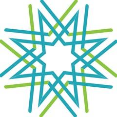Symbol X Blue Green Sign Folding Umbrellas