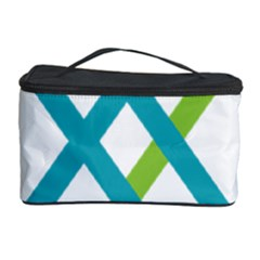 Symbol X Blue Green Sign Cosmetic Storage Case