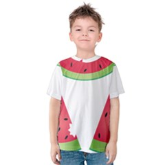 Watermelon Slice Red Green Fruite Kids  Cotton Tee