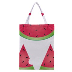Watermelon Slice Red Green Fruite Classic Tote Bag