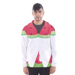Watermelon Slice Red Green Fruite Hooded Wind Breaker (Men)