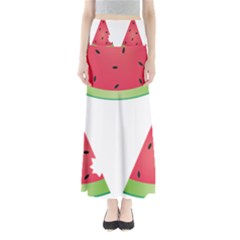 Watermelon Slice Red Green Fruite Maxi Skirts