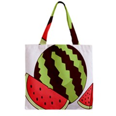 Watermelon Slice Red Green Fruite Circle Grocery Tote Bag