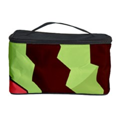 Watermelon Slice Red Green Fruite Circle Cosmetic Storage Case