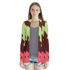 Watermelon Slice Red Green Fruite Circle Cardigans