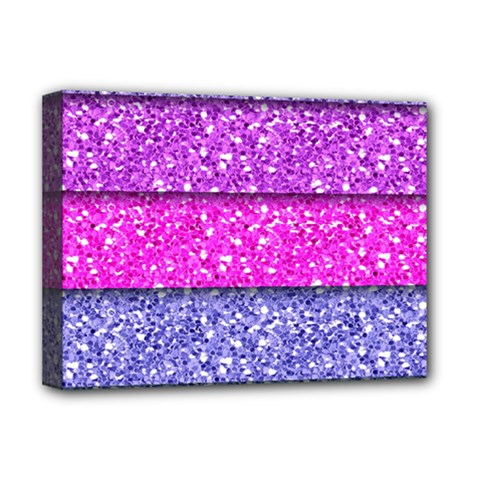 Violet Girly Glitter Pink Blue Deluxe Canvas 16  x 12
