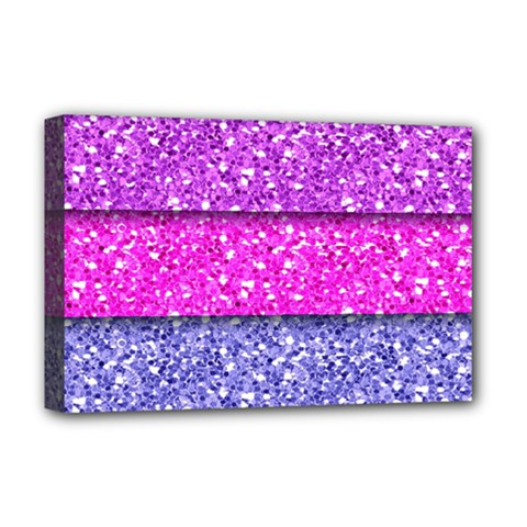 Violet Girly Glitter Pink Blue Deluxe Canvas 18  x 12