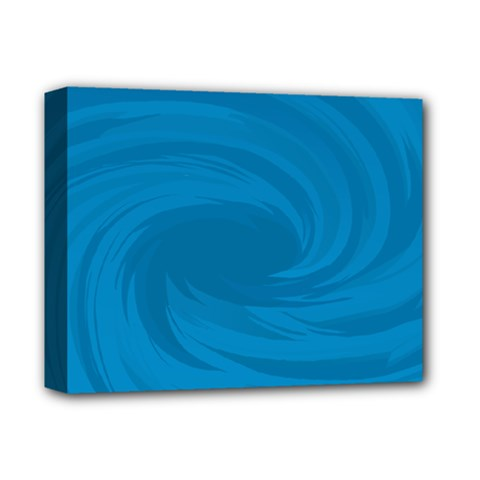 Whirlpool Hole Wave Blue Waves Sea Deluxe Canvas 14  x 11