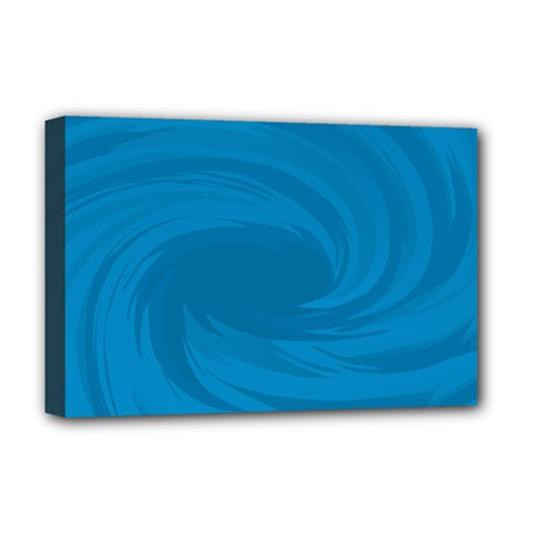 Whirlpool Hole Wave Blue Waves Sea Deluxe Canvas 18  x 12