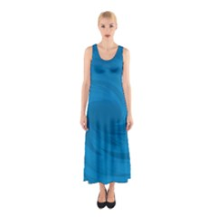 Whirlpool Hole Wave Blue Waves Sea Sleeveless Maxi Dress