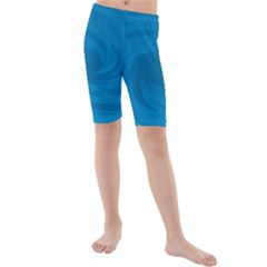 Whirlpool Hole Wave Blue Waves Sea Kids  Mid Length Swim Shorts