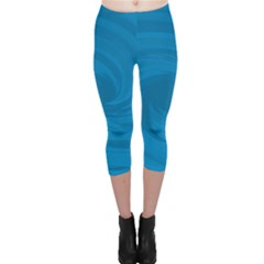 Whirlpool Hole Wave Blue Waves Sea Capri Leggings