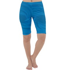Whirlpool Hole Wave Blue Waves Sea Cropped Leggings