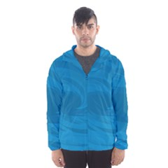 Whirlpool Hole Wave Blue Waves Sea Hooded Wind Breaker (Men)