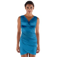 Whirlpool Hole Wave Blue Waves Sea Wrap Front Bodycon Dress