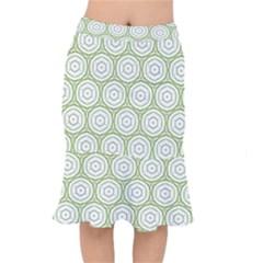 Wood Star Green Circle Mermaid Skirt