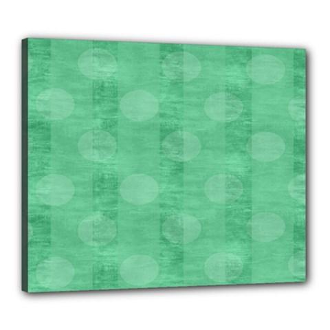 Polka Dot Scrapbook Paper Digital Green Canvas 24  x 20