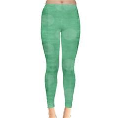 Polka Dot Scrapbook Paper Digital Green Leggings
