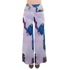 Wonderful Blue Parrot In A Fantasy World Pants