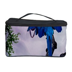 Wonderful Blue Parrot In A Fantasy World Cosmetic Storage Case