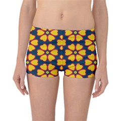 Yellow Flowers Pattern         Boyleg Bikini Bottoms