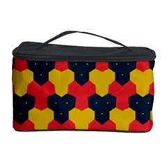 Red blue yellow shapes pattern        Cosmetic Storage Case