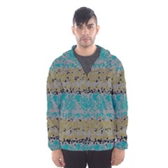 Blue brown waves       Mesh Lined Wind Breaker (Men)
