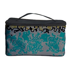 Blue brown waves       Cosmetic Storage Case