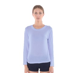 Solid Alice Blue in an English Country Garden Wedding Women s Long Sleeve Tee