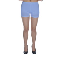 Solid Alice Blue in an English Country Garden Wedding Skinny Shorts