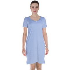 Solid Alice Blue in an English Country Garden Wedding Short Sleeve Nightdress