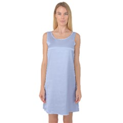 Solid Alice Blue in an English Country Garden Wedding Sleeveless Satin Nightdress