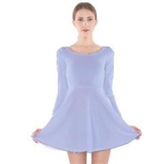 Solid Alice Blue in an English Country Garden Wedding Long Sleeve Velvet Skater Dress