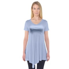 Solid Alice Blue in an English Country Garden Wedding Short Sleeve Tunic