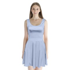 Solid Alice Blue in an English Country Garden Wedding Split Back Mini Dress