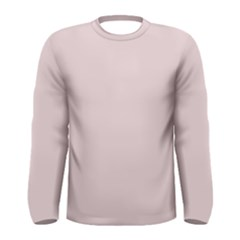 Solid Alice Pink in an English Country Garden Men s Long Sleeve Tee
