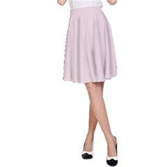 Solid Alice Pink in an English Country Garden A-Line Skirt