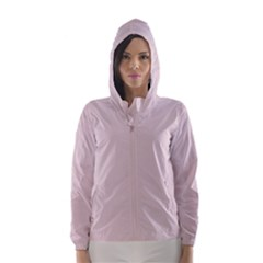 Solid Alice Pink in an English Country Garden Hooded Wind Breaker (Women)