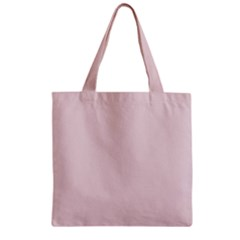 Solid Alice Pink in an English Country Garden Zipper Grocery Tote Bag